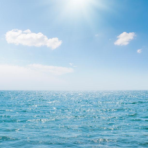 海洋天空日光