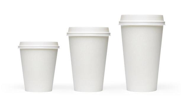 咖啡杯空白的三个物体