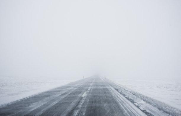 大风雪冰岛国冬天