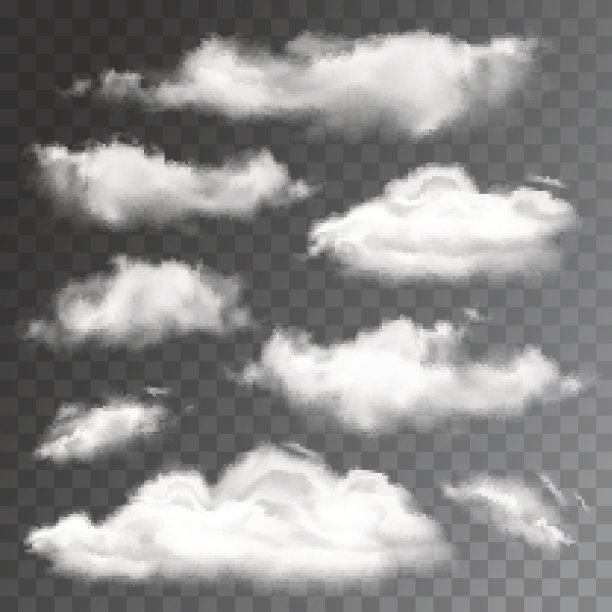 云透明绘画插图