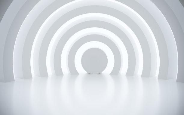 白色圆形建筑背景