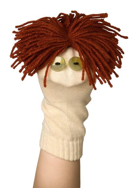 布袋木偶木偶袜子