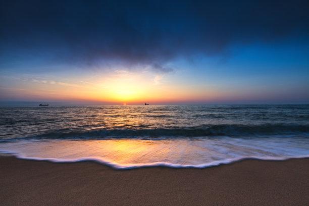 黎明,海洋,在上面