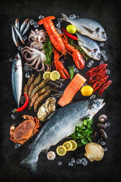 各种各样的海鲜