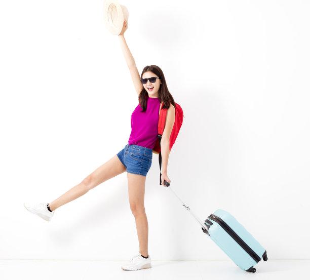 去旅游的女人