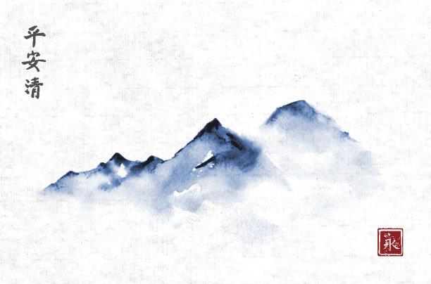 墨水雾背景