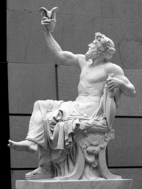 雕塑远古的大特写