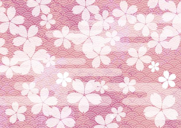 自然美绘画插图樱之花