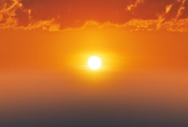 黎明,云,日光