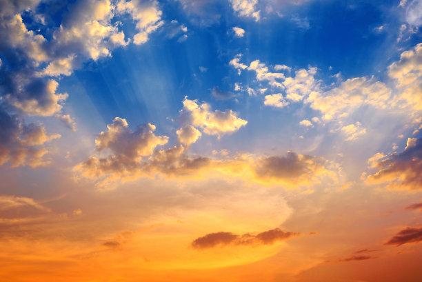 天空,美,水平画幅