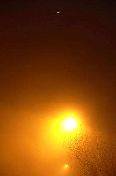 月亮,空气污染,照明设备