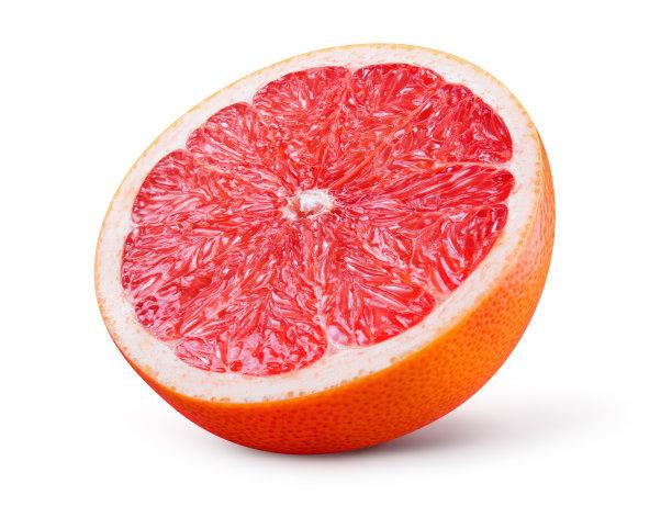 葡萄柚背景分离水果
