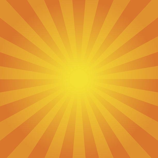 阳光光束橙色背景
