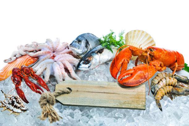 各式各样的海鲜
