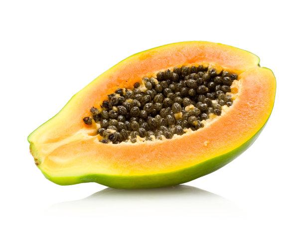 木瓜水果斜靠