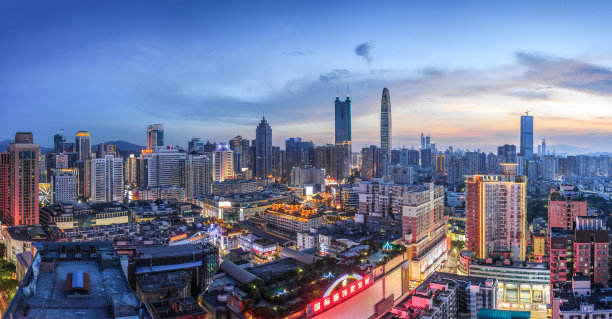 深圳城市天际线洛浦