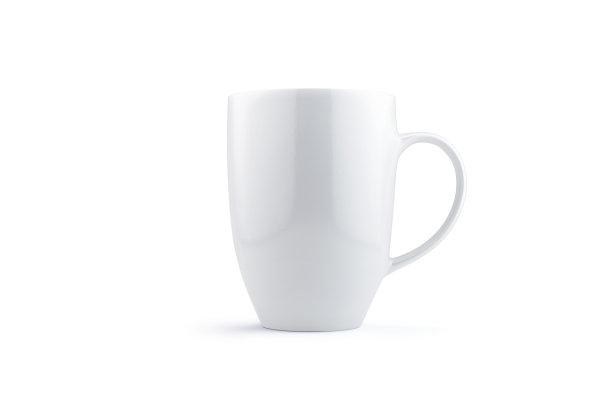 马克杯白色分离着色
