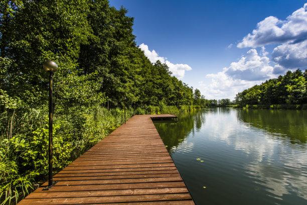 波兰,湖,国家公园