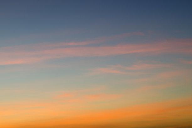曙暮光,天空,多色的