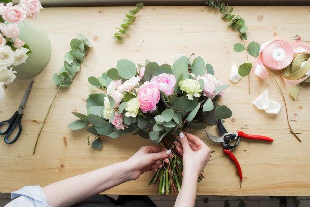 花卉商花束现代