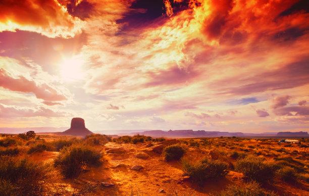 亚利桑那纪念碑山谷天空