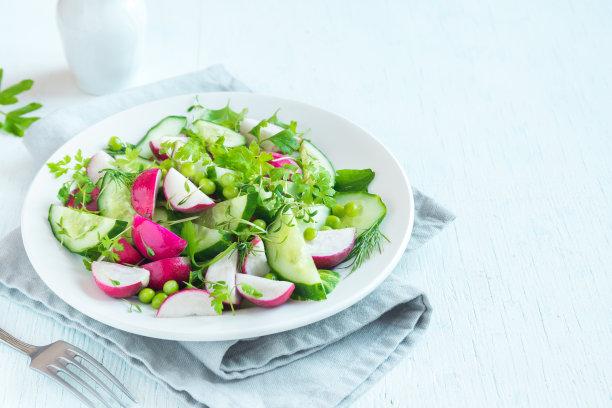 沙拉蔬菜春天