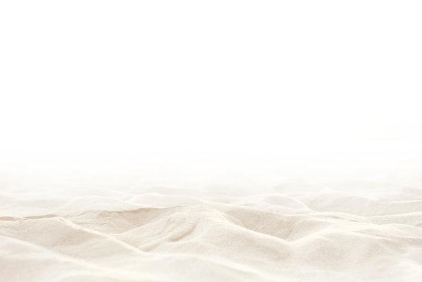 沙滩白色背景