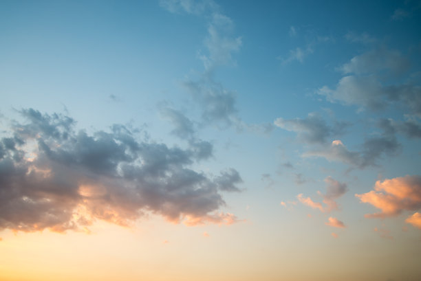 蓝色,背景,云