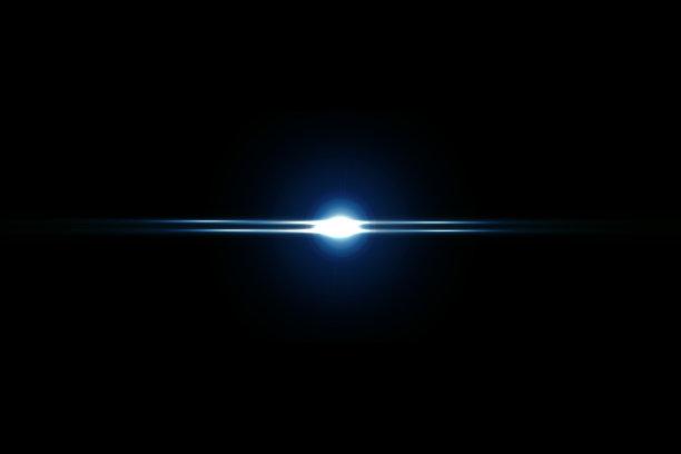 蓝色镜头光线