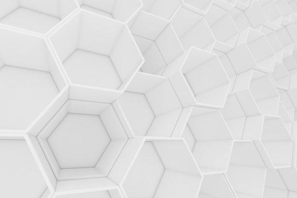 背景聚焦六边形抽象