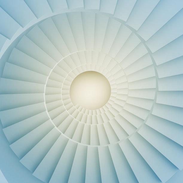螺旋梯,空白的,留白