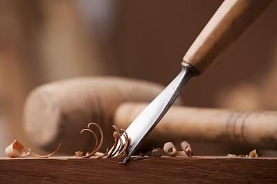 木工工作特写