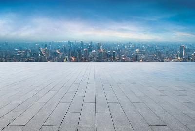 现代化城市远景