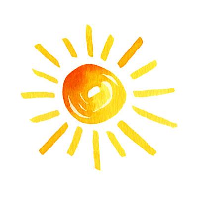 日光水彩画水彩颜料