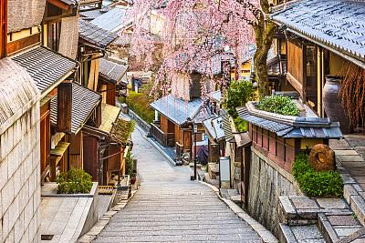 京都府日本春天