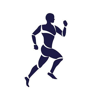 短跑慢跑图标