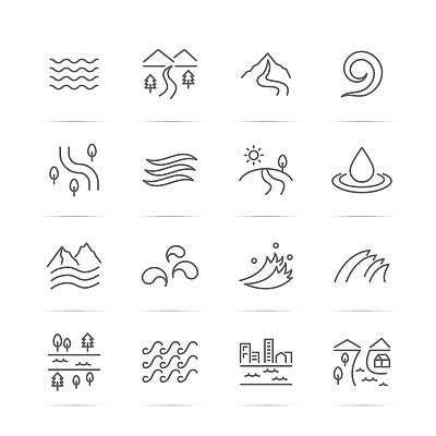 河流符号图片