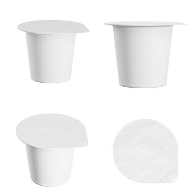 酸奶空白的白色