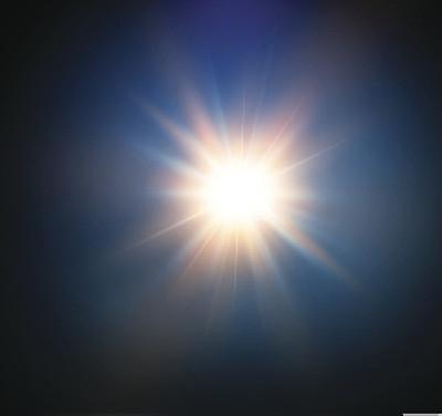 闪光灯照明镜头眩光绘画插图