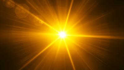 太阳,镜头眩光,黑色背景