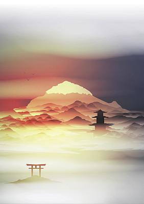 日本拱门地形