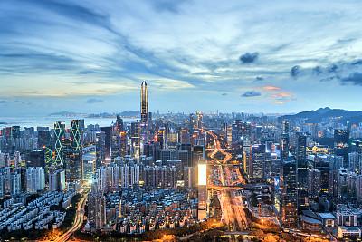 深圳夜晚城市天际线