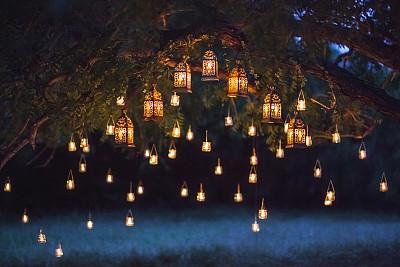 结婚庆典夜景