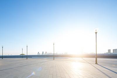 哈尔滨无人都市风景