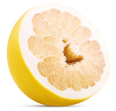 柑橘属切成两分的柚子