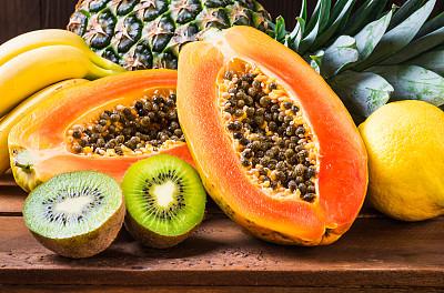 木瓜热带水果奇异果-水果