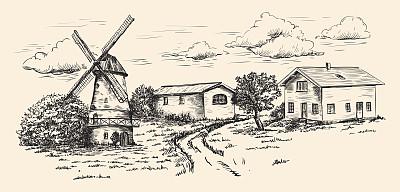 风车农场乡村