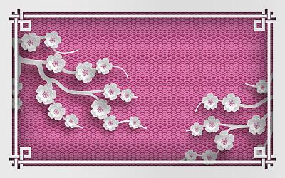 边框背景粉色