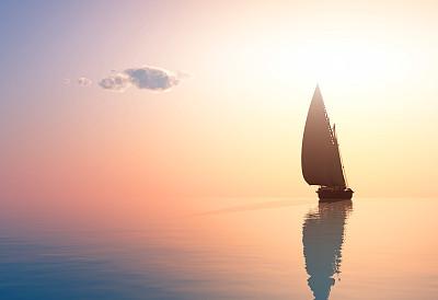 海面的帆船