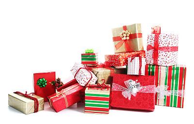 圣诞节礼物堆